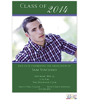 Custom Colors Digital Graduation Announcement