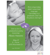 Purple And Green Digital Graduation Announcement
