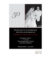 50Th Digital Photo Invitation