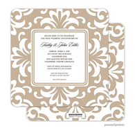 Grande Floral Tan Invitation