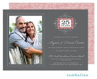 Anniversary Portrait Digital Photo Invitation