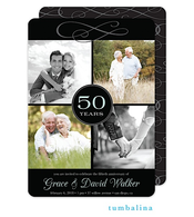 Anniversary Quad Digital Photo Invitation