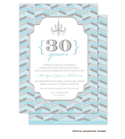 Blue and Grey Chevron Mosaic Invitation