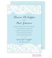 Blue Lace Invitation