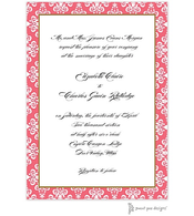 Lace Damask Edge Cora Invitation