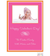 Pink And Orange Valentine Digital Photo Card