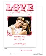 LOVE Elegant Frame Flat Digital Photo Card