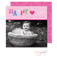 Fun Valentine Flat Square Digital Photo Card