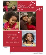 Valentine Cubes Flat Digital Photo Card
