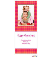 Pink and Orange Houndstooth Flat Digital Photo Card