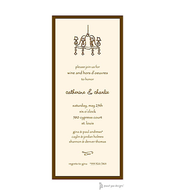 Classic Edge Chocolate Invitation