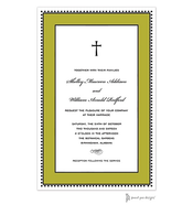 Antique Bead Border Black & Olive Invitation
