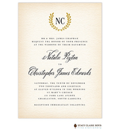 Antique Monogram Wedding Invitation