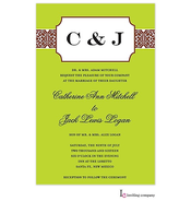 Bookplate Lime Invitation