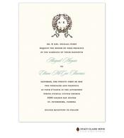 Cherished Invitation on White Eggshell (cream)