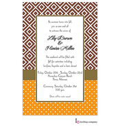 Fall Diamond Invitation