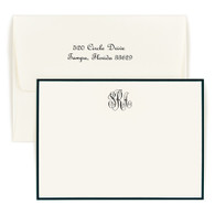 Classic Monogram Bordered Card