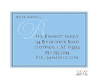 Blue Monogram Invitation