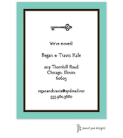 Dark Aqua Edge & Black Border Invitation