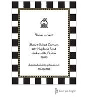 Fun Stripes Black Invitation