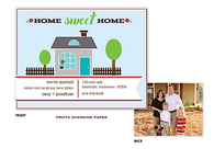 Home Sweet Home Digital Photo Moving Announcement Sweet Petite Invitation