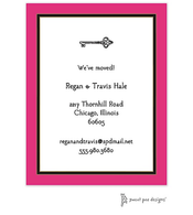Hot Pink Edge & Black Border Invitation