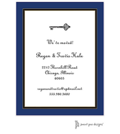 Navy Edge & Black Border Invitation