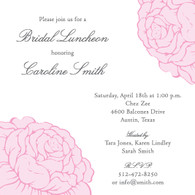 Floral Pink Custom Invitation