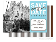 Aqua Single Digital Photo Save The Date