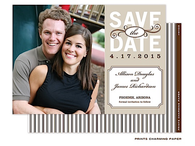 Bisque Single Digital Photo Save The Date