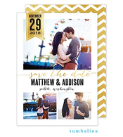 Chic Banner Digital Photo Save The Date Card