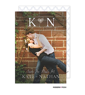 Initial Digital Photo Save The Date Card