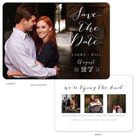 Lettered Love - Photo Trio Digital Photo Save The Date