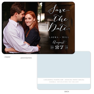 Lettered Love - Solid Back Digital Photo Save The Date