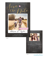 Love Chalkboard Digital Photo Save The Date Card