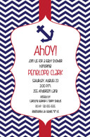 Anchor Chevron Custom Invitation
