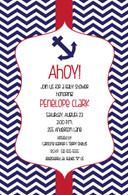 Anchor Chevron Custom Invitation