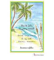 Tiki Beach Invitation