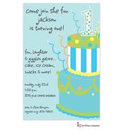 Blue Cake Invitation