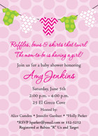 Onesies Pink Custom Invitation