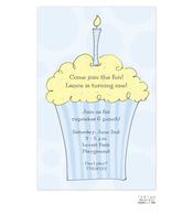 Boy Cupcake Invitation