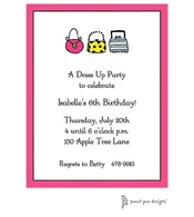 Classic Edge Bright Pink & Black Invitation