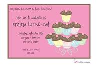 Cupcake Time Invitation