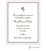 Dotted Edge Pink & Chocolate Invitation