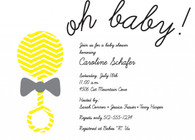Rattle Oh Baby Custom Invitation