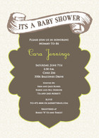 Vintage Baby Custom Invitation