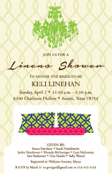 Linens Shower Custom Invitation