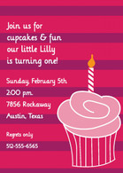 Cupcake Pink Custom Invitation