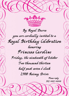 Royal Scroll Custom Invitation