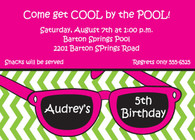 Sunglasses Custom Invitation